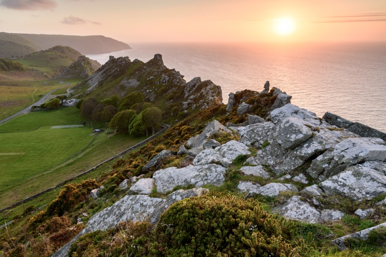 Sunset at the Valley of the Rocks_Photographer Robert Small (2015 Photo Competition entry)