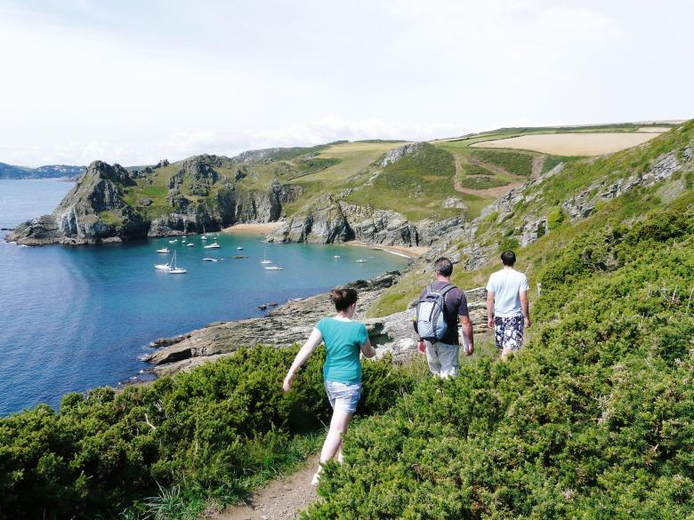 A Path with a view - Elender Cove and Gammon Head. Photographer Julie Collier.