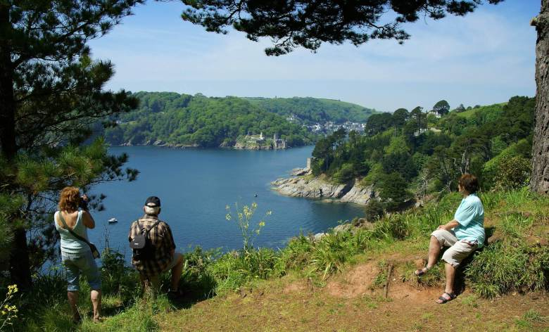 South West Coast Path near Warren House over Mill Bay Cove, look at Dartmouth Castle. Photographer Rudolf Guldner